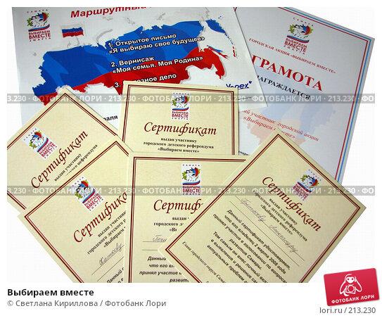 Выбираем вместе, фото № 213230, снято 3 марта 2008 г. (c) Светлана Кириллова / Фотобанк Лори