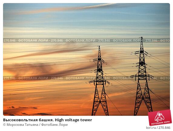 Высоковольтная башня. High voltage tower, фото № 270846, снято 25 апреля 2008 г. (c) Морозова Татьяна / Фотобанк Лори