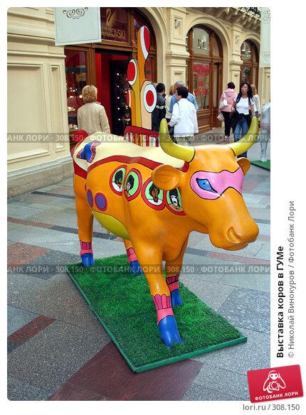 Выставка коров в ГУМе, эксклюзивное фото № 308150, снято 20 февраля 2017 г. (c) Николай Винокуров / Фотобанк Лори