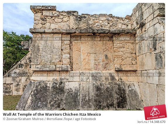 Купить «Wall At Temple of the Warriors Chichen Itza Mexico», фото № 14348670, снято 16 июля 2020 г. (c) age Fotostock / Фотобанк Лори