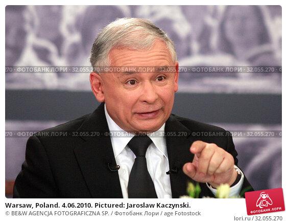 Warsaw, Poland. 4.06.2010. Pictured: Jaroslaw Kaczynski. Редакционное фото, фотограф BE&W AGENCJA FOTOGRAFICZNA SP. / age Fotostock / Фотобанк Лори