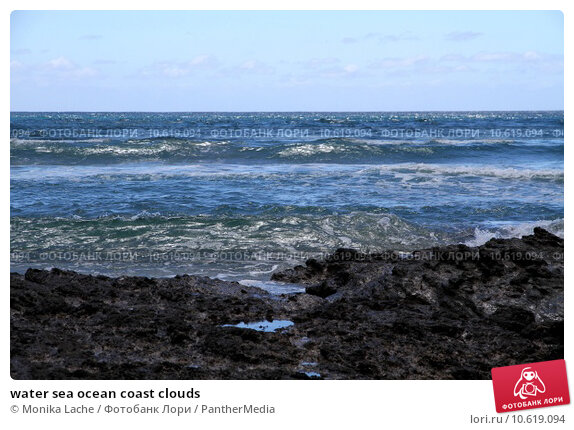 water sea ocean coast clouds. Стоковое фото, фотограф Monika Lache / PantherMedia / Фотобанк Лори