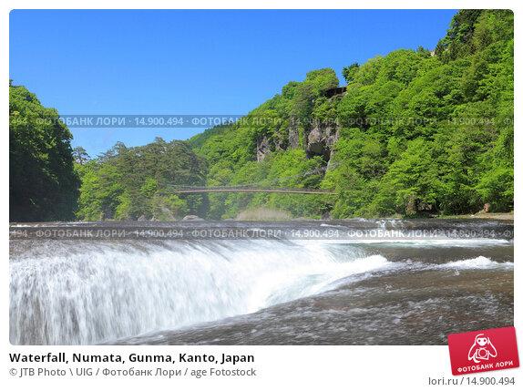 Купить «Waterfall, Numata, Gunma, Kanto, Japan», фото № 14900494, снято 18 июня 2018 г. (c) age Fotostock / Фотобанк Лори