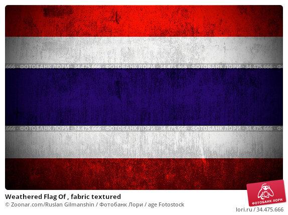 Weathered Flag Of , fabric textured. Стоковое фото, фотограф Zoonar.com/Ruslan Gilmanshin / age Fotostock / Фотобанк Лори