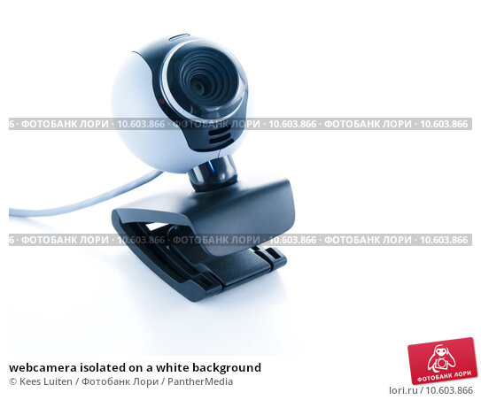 webcamera isolated on a white background. Стоковое фото, фотограф Kees Luiten / PantherMedia / Фотобанк Лори