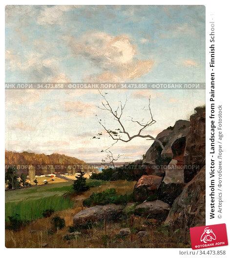 Westerholm Victor - Landscape from Pairanen - Finnish School - 19th... Редакционное фото, фотограф Artepics / age Fotostock / Фотобанк Лори