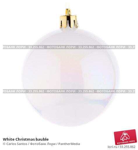 Купить «White Christmas bauble», фото № 33255862, снято 5 июля 2020 г. (c) PantherMedia / Фотобанк Лори