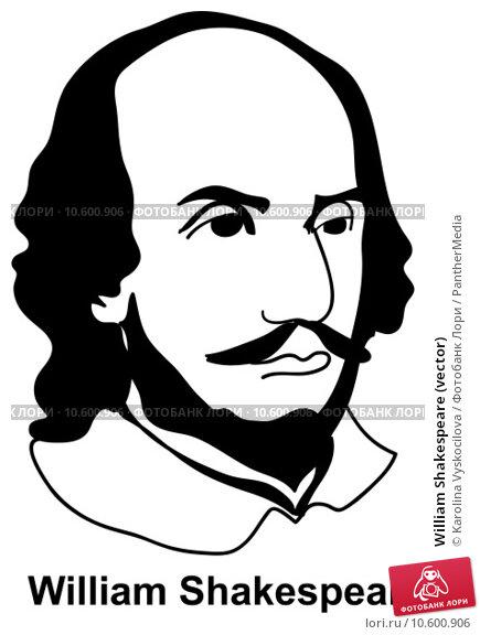William Shakespeare (vector) Стоковая иллюстрация, иллюстратор Karolina Vyskocilova / PantherMedia / Фотобанк Лори