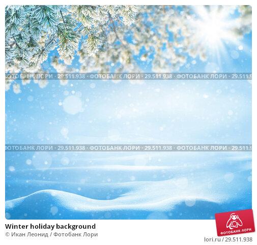 Купить «Winter holiday background», фото № 29511938, снято 1 декабря 2018 г. (c) Икан Леонид / Фотобанк Лори