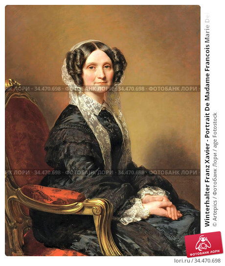 Winterhalter Franz Xavier - Portrait De Madame Francois Marie Delessert... Редакционное фото, фотограф Artepics / age Fotostock / Фотобанк Лори