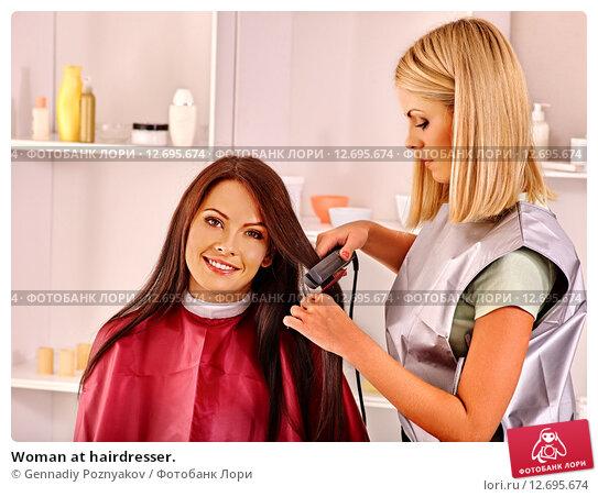 Woman at hairdresser., фото № 12695674, снято 15 сентября 2012 г. (c) Gennadiy Poznyakov / Фотобанк Лори