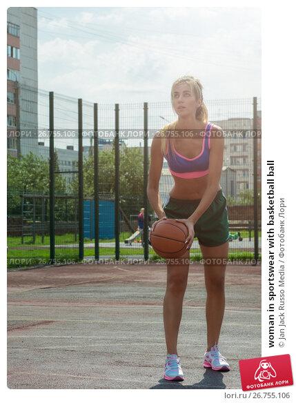 Купить «woman in sportswear with basketball ball», фото № 26755106, снято 7 июля 2017 г. (c) Jan Jack Russo Media / Фотобанк Лори
