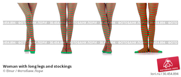 Woman with long legs and stockings. Стоковое фото, фотограф Elnur / Фотобанк Лори