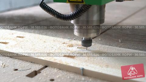 Купить «Working wood milling tool video», видеоролик № 30585026, снято 8 апреля 2019 г. (c) Гурьянов Андрей / Фотобанк Лори
