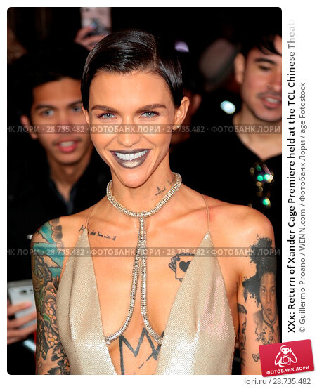 Купить «XXx: Return of Xander Cage Premiere held at the TCL Chinese Theatre IMAX - Arrivals Featuring: Ruby Rose Where: Hollywood, California, United States When: 19 Jan 2017 Credit: Guillermo Proano/WENN.com», фото № 28735482, снято 19 января 2017 г. (c) age Fotostock / Фотобанк Лори