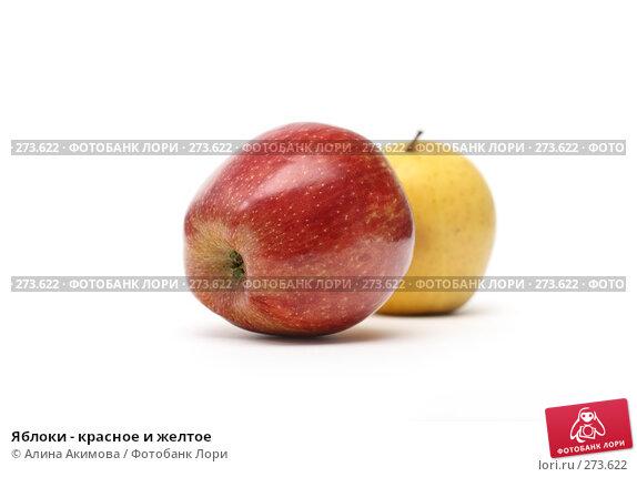 Купить «Яблоки - красное и желтое», фото № 273622, снято 28 апреля 2008 г. (c) Алина Акимова / Фотобанк Лори
