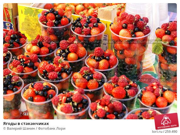 Ягоды в стаканчиках, фото № 259490, снято 21 сентября 2007 г. (c) Валерий Шанин / Фотобанк Лори
