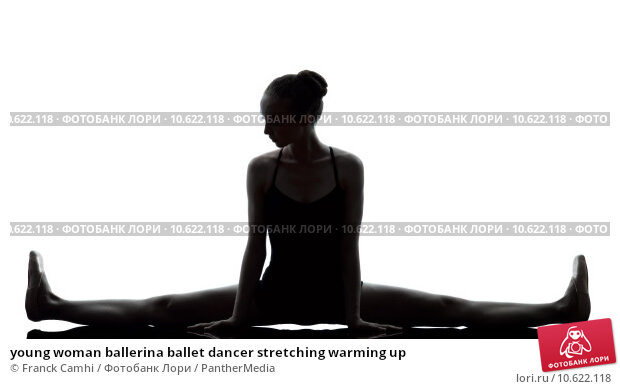 young woman ballerina ballet dancer stretching warming up . Стоковое фото, фотограф Franck Camhi / PantherMedia / Фотобанк Лори