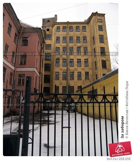 Купить «За забором», фото № 233210, снято 1 марта 2008 г. (c) Бяков Вячеслав / Фотобанк Лори
