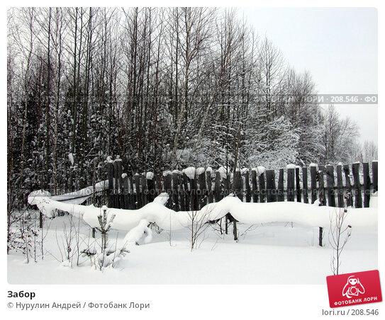 Купить «Забор», фото № 208546, снято 26 января 2008 г. (c) Нурулин Андрей / Фотобанк Лори