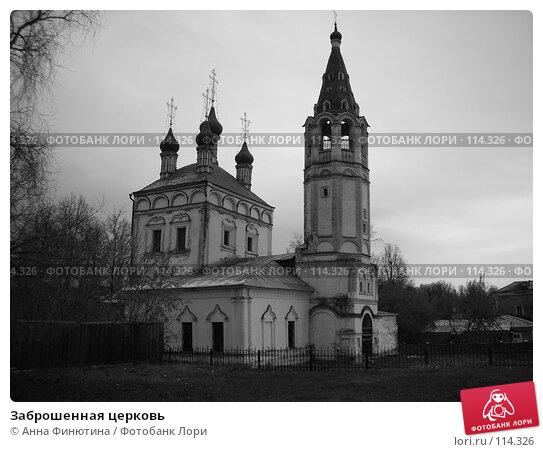 Купить «Заброшенная церковь», фото № 114326, снято 10 ноября 2007 г. (c) Анна Финютина / Фотобанк Лори