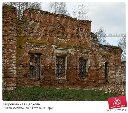 Заброшенная церковь, фото № 257878, снято 19 апреля 2008 г. (c) Яков Филимонов / Фотобанк Лори
