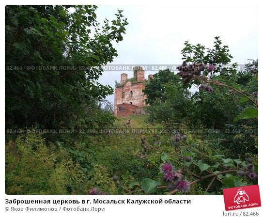 Заброшенная церковь в г. Мосальск Калужской области, фото № 82466, снято 28 июля 2007 г. (c) Яков Филимонов / Фотобанк Лори