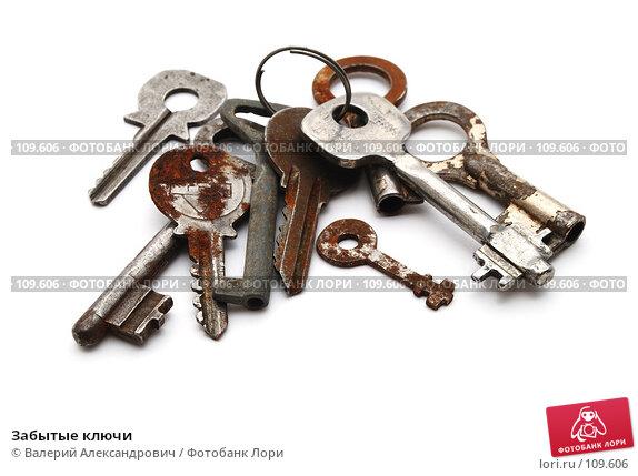 Забытые ключи, фото № 109606, снято 17 октября 2007 г. (c) Валерий Александрович / Фотобанк Лори