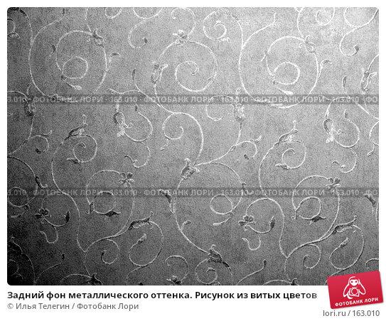 Задний фон металлического оттенка. Рисунок из витых цветов, фото № 163010, снято 28 декабря 2007 г. (c) Илья Телегин / Фотобанк Лори