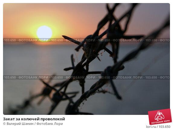 Закат за колючей проволокой, фото № 103650, снято 8 декабря 2016 г. (c) Валерий Шанин / Фотобанк Лори