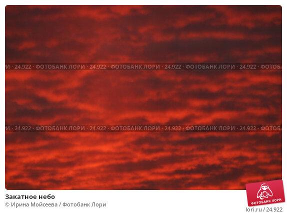 Закатное небо, эксклюзивное фото № 24922, снято 2 декабря 2005 г. (c) Ирина Мойсеева / Фотобанк Лори
