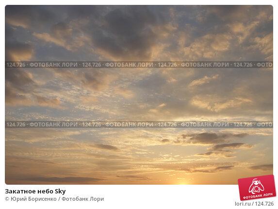 Закатное небо Sky, фото № 124726, снято 26 апреля 2007 г. (c) Юрий Борисенко / Фотобанк Лори