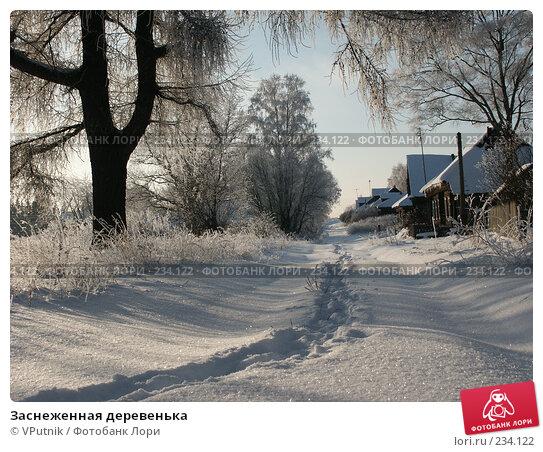 Заснеженная деревенька, фото № 234122, снято 30 ноября 2004 г. (c) VPutnik / Фотобанк Лори