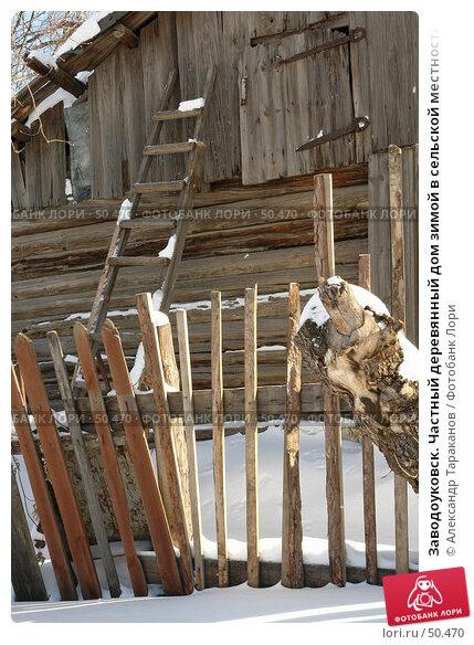 Заводоуковск. Частный деревянный дом зимой в сельской местности, эксклюзивное фото № 50470, снято 27 марта 2017 г. (c) Александр Тараканов / Фотобанк Лори