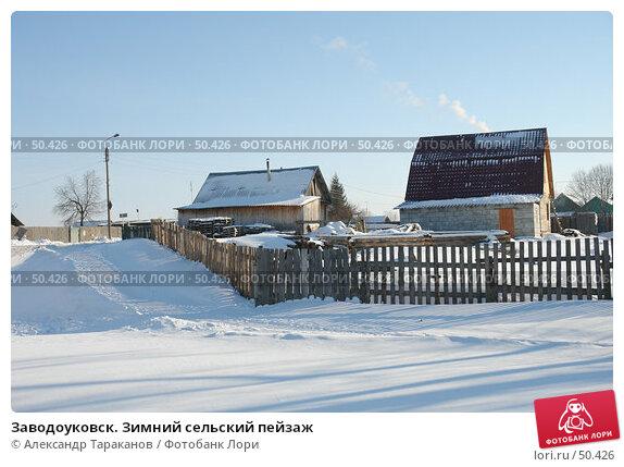 Заводоуковск. Зимний сельский пейзаж, фото № 50426, снято 23 июня 2017 г. (c) Александр Тараканов / Фотобанк Лори