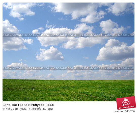 Купить «Зеленая трава и голубое небо», фото № 143206, снято 5 мая 2007 г. (c) Насыров Руслан / Фотобанк Лори