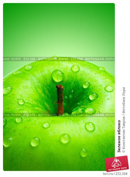 Зеленое яблоко, фото № 272334, снято 3 декабря 2007 г. (c) Константин Тавров / Фотобанк Лори