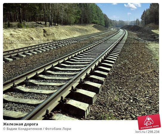 Железная дорога, фото № 298234, снято 20 января 2017 г. (c) Вадим Кондратенков / Фотобанк Лори