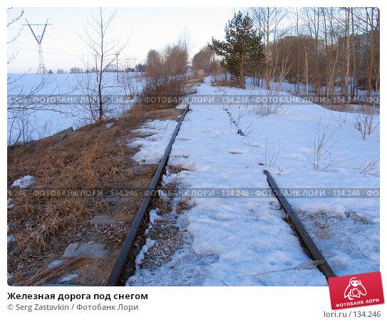 Железная дорога под снегом, фото № 134246, снято 1 апреля 2005 г. (c) Serg Zastavkin / Фотобанк Лори