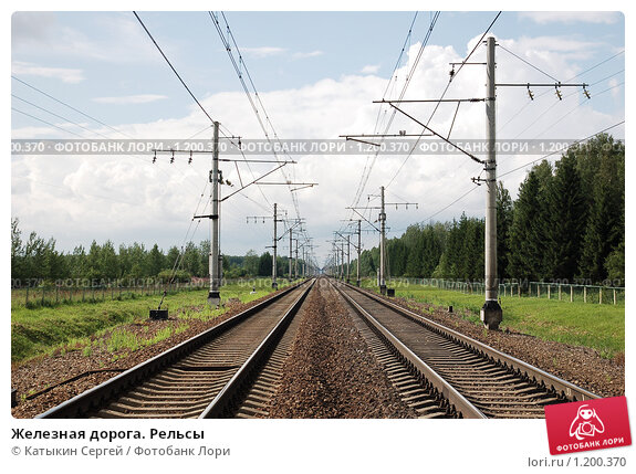 Купить «Железная дорога. Рельсы», фото № 1200370, снято 25 июля 2009 г. (c) Катыкин Сергей / Фотобанк Лори