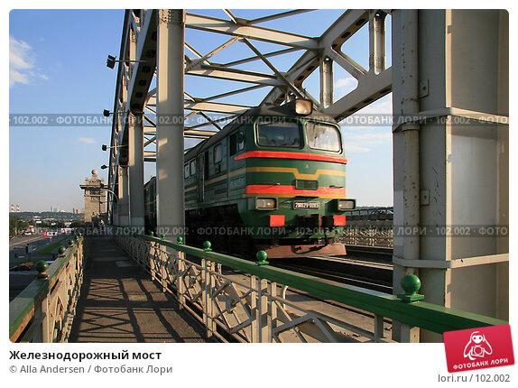 Купить «Железнодорожный мост», фото № 102002, снято 20 марта 2018 г. (c) Alla Andersen / Фотобанк Лори