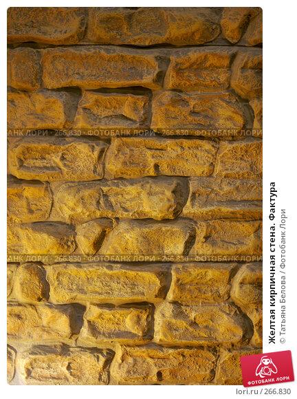 Желтая кирпичная стена. Фактура, фото № 266830, снято 6 ноября 2005 г. (c) Татьяна Белова / Фотобанк Лори