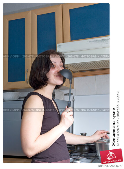 Женщина на кухне, фото № 266678, снято 22 февраля 2008 г. (c) паша семенов / Фотобанк Лори