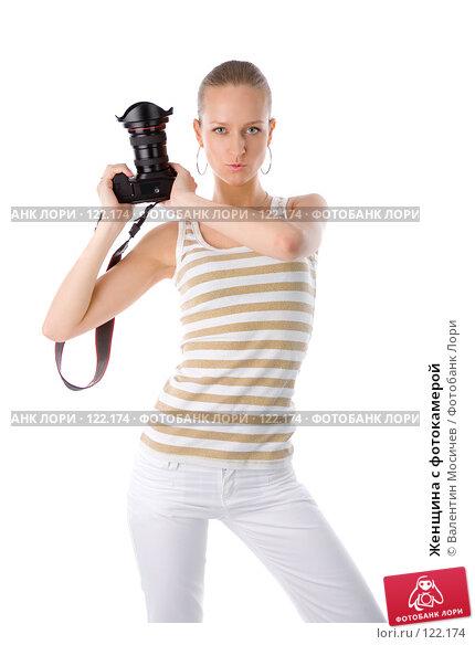 Женщина с фотокамерой, фото № 122174, снято 1 апреля 2007 г. (c) Валентин Мосичев / Фотобанк Лори