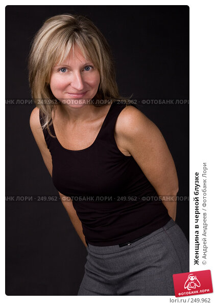 Женщина в черной блузке, фото № 249962, снято 25 ноября 2007 г. (c) Андрей Андреев / Фотобанк Лори