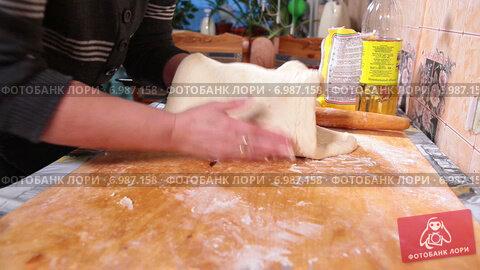 Купить «Женщина выкладывает тесто для пирога на противень», видеоролик № 6987158, снято 10 января 2015 г. (c) Кекяляйнен Андрей / Фотобанк Лори
