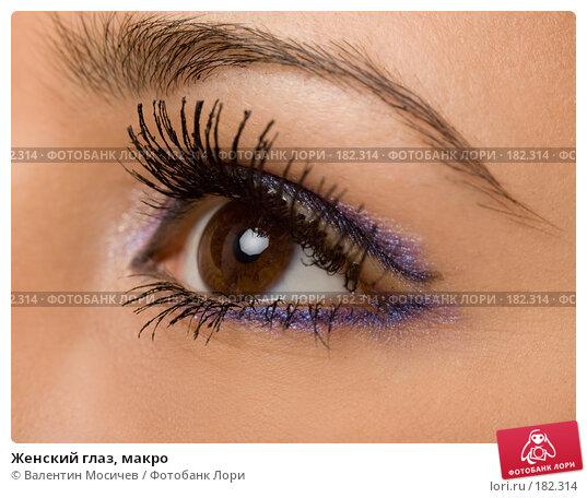 Женский глаз, макро, фото № 182314, снято 20 января 2008 г. (c) Валентин Мосичев / Фотобанк Лори