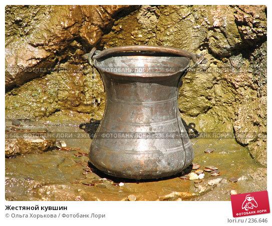 Жестяной кувшин, фото № 236646, снято 19 августа 2007 г. (c) Ольга Хорькова / Фотобанк Лори