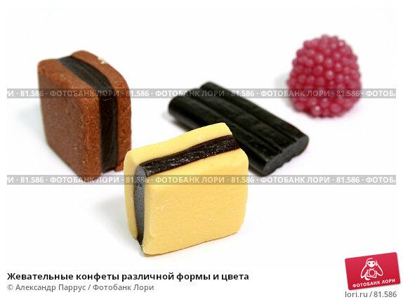 Жевательные конфеты различной формы и цвета, фото № 81586, снято 2 января 2007 г. (c) Александр Паррус / Фотобанк Лори