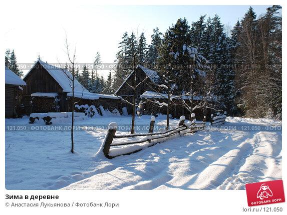 Зима в деревне, фото № 121050, снято 18 ноября 2007 г. (c) Анастасия Лукьянова / Фотобанк Лори